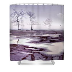 Over And Over Again Shower Curtain by Diana Angstadt