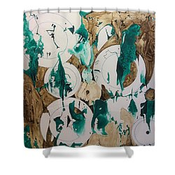 Over And Under Shower Curtain by Pat Purdy