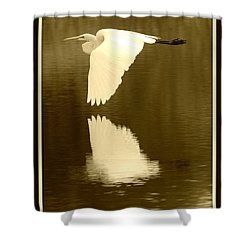 Over Golden Pond Shower Curtain by Carol Groenen