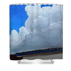 Shower Curtain featuring the painting Over My House by Gary Coleman