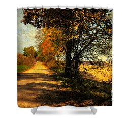 Over My Shoulder Shower Curtain by Lois Bryan