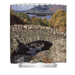 Over The Bridge And Far Away Shower Curtain