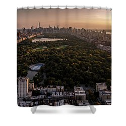 Over The City Central Park Shower Curtain