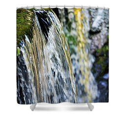 Over The Edge Visions Of Gold Shower Curtain