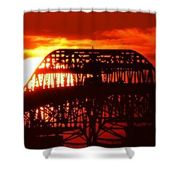 Over The Hump Shower Curtain