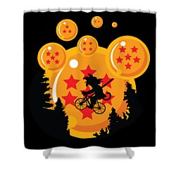 Over The Moon Shower Curtain