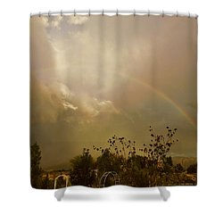 Over The Rainbow Garden Shower Curtain