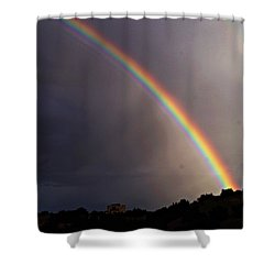 Shower Curtain featuring the photograph Over The Rainbow by Joseph Frank Baraba