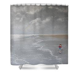 Over The Rainbow Shower Curtain by Paul Newcastle