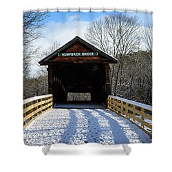 Over The River And Through The Bridge Shower Curtain