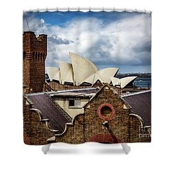 Shower Curtain featuring the photograph Over The Roof Tops by Perry Webster