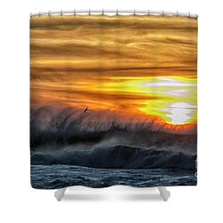 Over The Sea Shower Curtain