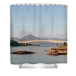 Over The Sea To Skye Shower Curtain by Pat Speirs