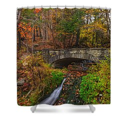 Over The Stream Shower Curtain by Mark Papke