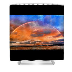 Over The Top Rainbow Shower Curtain