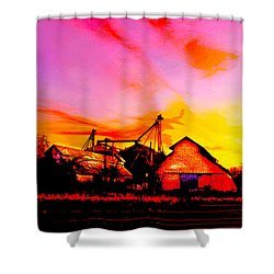 Over The Tracks --somewhere In Texas Shower Curtain