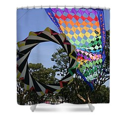 Shower Curtain featuring the photograph Over Under Sideways Down by Marie Neder