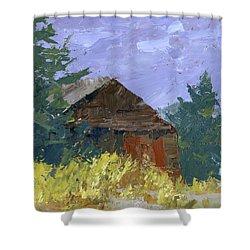 Overgrown Barn Shower Curtain