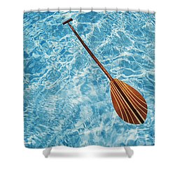 Overhead View Of Paddle Shower Curtain by Joss - Printscapes