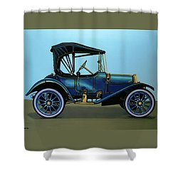 Overland 1911 Painting Shower Curtain by Paul Meijering