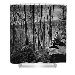 Overlook By Rainbow Falls Shower Curtain by Kelly Hazel