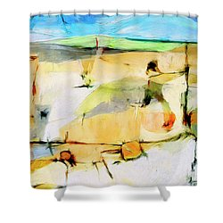 Shower Curtain featuring the painting Overlook by Dominic Piperata