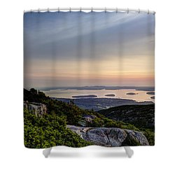 Overlooking Bar Harbor Shower Curtain