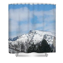 Overlooking Blodgett Shower Curtain by Jewel Hengen