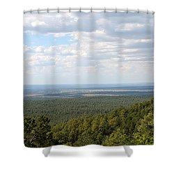 Overlooking Pinetop Shower Curtain