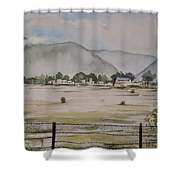 Overlooking The Hills Shower Curtain