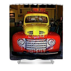 Overpainted 1950 Ford Pickup Shower Curtain