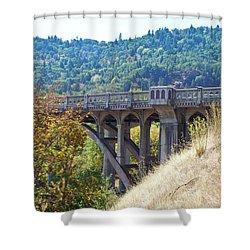 Overpass Underpinnings Shower Curtain
