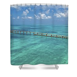 Overseas Highway Shower Curtain by Patrick M Lynch