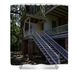Shower Curtain featuring the photograph Overseers Porch  by Ken Frischkorn