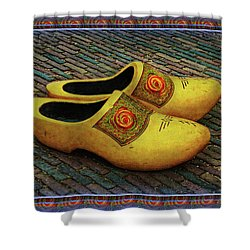 Shower Curtain featuring the photograph Oversized Dutch Clogs by Hanny Heim