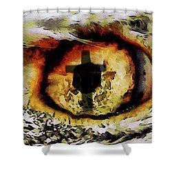 Shower Curtain featuring the digital art Overwhelmed Remember Him by Ernie Echols