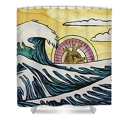 Shower Curtain featuring the painting Overwhelming Love by Nathan Rhoads