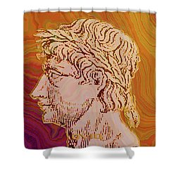 Shower Curtain featuring the digital art Ovid by Asok Mukhopadhyay