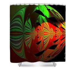 Art Green, Red, Black Shower Curtain
