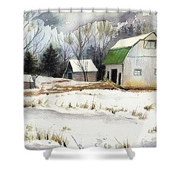 Owen County Winter Shower Curtain