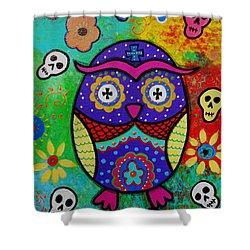 Owl Dia De Los Muertos Painting By Pristine Cartera Turkus