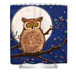 Owl In The Night Shower Curtain
