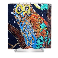Owl Light Shower Curtain