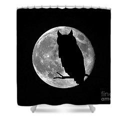 Owl Moon Shower Curtain by Al Powell Photography USA