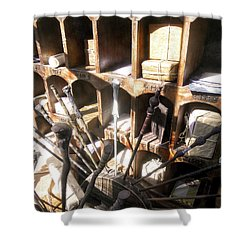 Shower Curtain featuring the photograph Owl Post Office Hogsmeade by Juergen Weiss