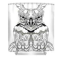 Owl Sketch 1 Shower Curtain