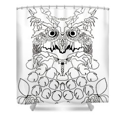 Owl Sketch 2 Shower Curtain