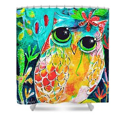 Owlette Shower Curtain by DAKRI Sinclair