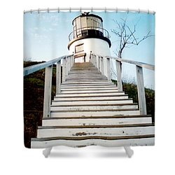 Owl's Head Light Shower Curtain by Greg Fortier