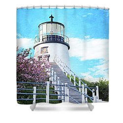 Owl's Head Light In Early June Shower Curtain
